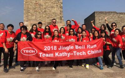 """为爱奔跑:泰克中国参与美国Jingle Bell Run""""凯西团队""""慢跑公益活动"""